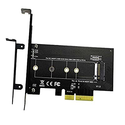 M.2 NGFF PCIe SSD to PCI Express 3.0 x4 Drvie Host Adapter Card Slot Support M.2 PCIe?NVMe?AHCI ?2280, 2260, 2242, 2230 by kaiju