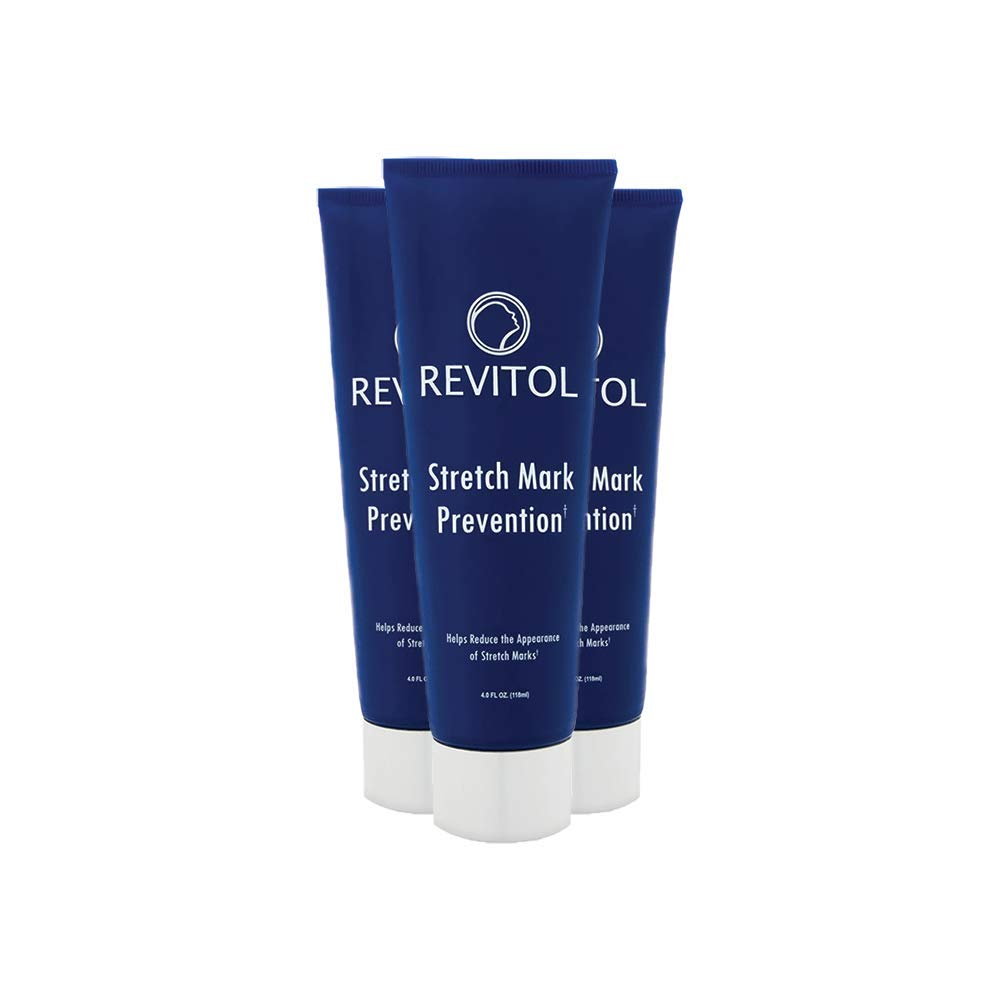 Revitol Stretch Mark Treatment Lotion, Safe Stretch Mark Reduction - 3 Pack