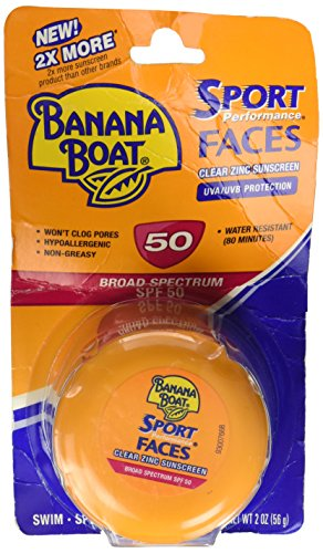 Price comparison product image Banana Boat Spf50 Sport Faces 2oz Jar (Clear Zinc Sunscreen)