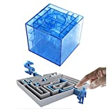 LLOP Money Gift Maze Bank Brainteaser Cosmic Pinball Cube Money Puzzle Box for Kids and Adults, Brain Teasers and Fun Game Challenge as Birthday Christmas Gifts for Coin Bills Cash (1, Blue)
