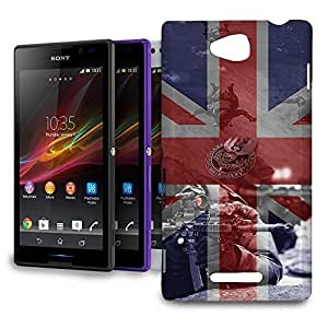 Phone Case For Sony Xperia C (S39h) - SAS Special Forces Inspired Protective Back