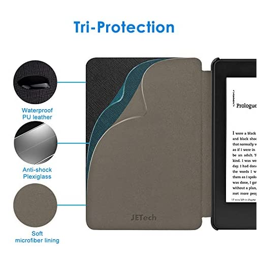 JETech Case for All-new Kindle Paperwhite (10th Generation 2018 Release Only) with Auto Sleep/Wake, Black