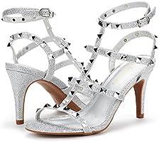 DREAM PAIRS Women/'s Heroinee Fashion Stilettos Open Toe Pump Heeled Sandals