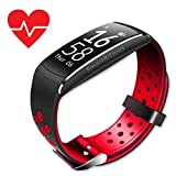 Fitness Tracker HR EPIKTEC – Activity Tracker Heart Rate Monitor Smart Watch | Step Calorie Counter Sleep| Bluetooth Water-Resistant Touch Screen Fit Band for Men Women and Kids | Red For Sale