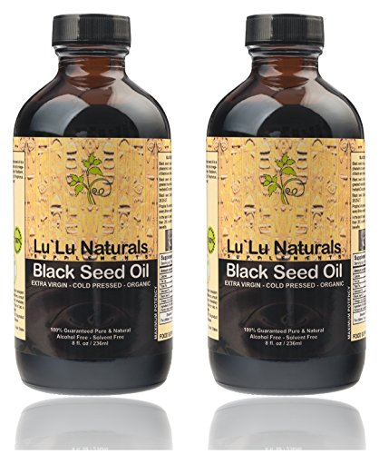 Premium Black Seed Oil 2x8oz ★ Organic, Cold Pressed, Extra Virgin, Pure! Cold Pressed From NON-GMO, 100% Pure Nigella Sativa.Promotes:Healthy Blood Cholesterol, Blood Pressure & Blood Sugar Levels*