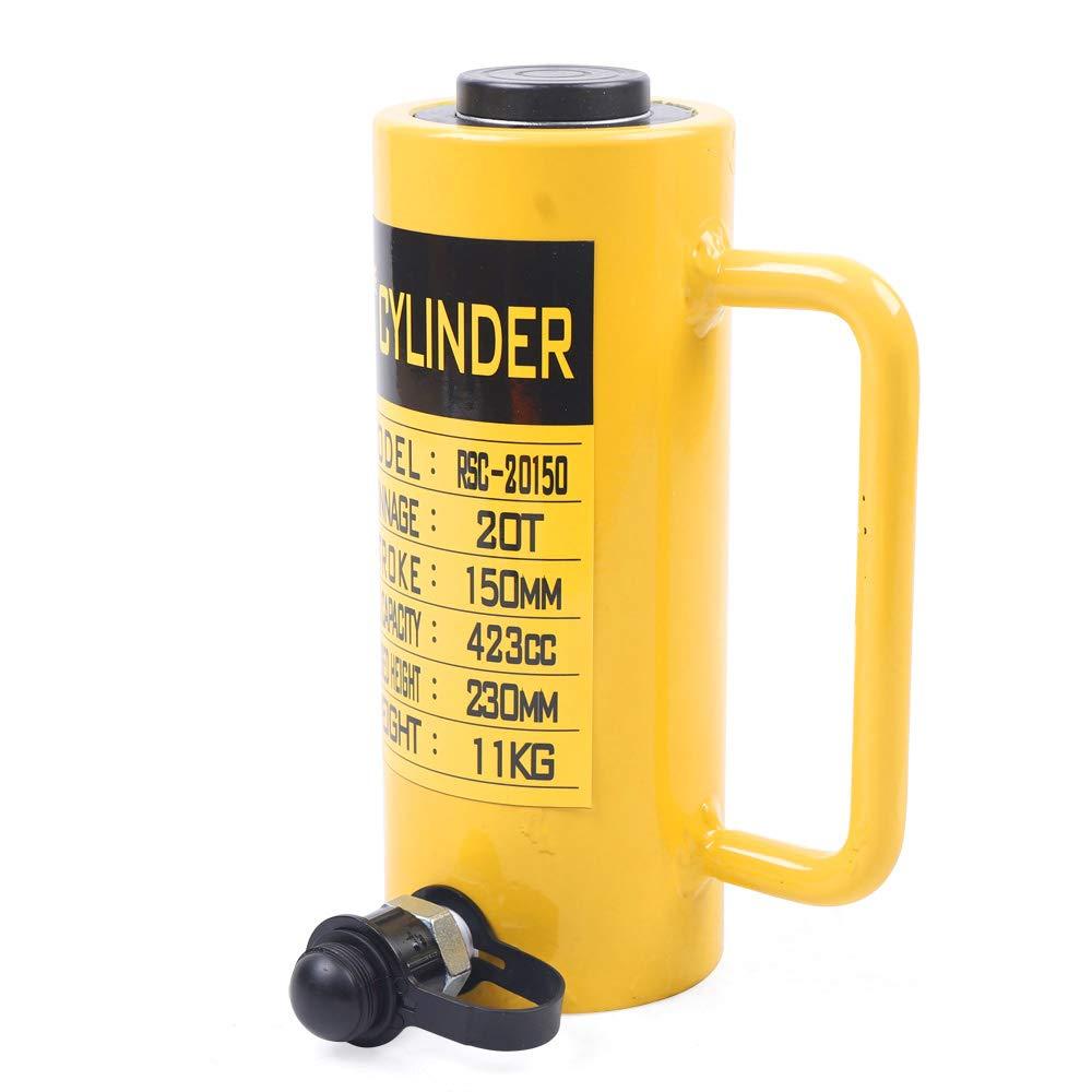 Munsinn Hydraulic Cylinder Jack Single Acting Hydraulic Cylinder 20 Tons 6