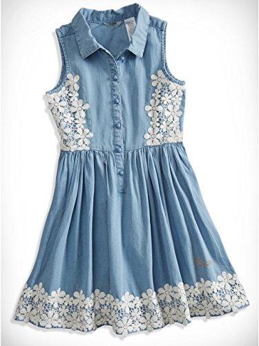 GUESS Kids Big Girl Chambray and Lace Dress (7-16)