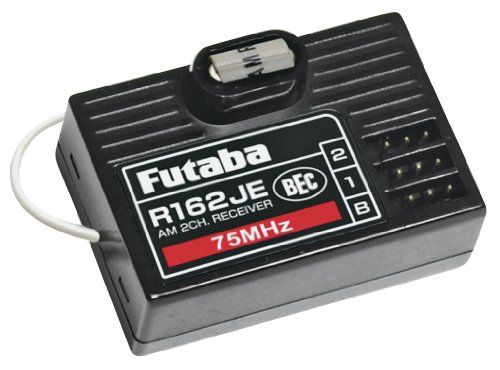 - Futaba R162JE 2Ch AM Rx 75MHz with BEC without XTL