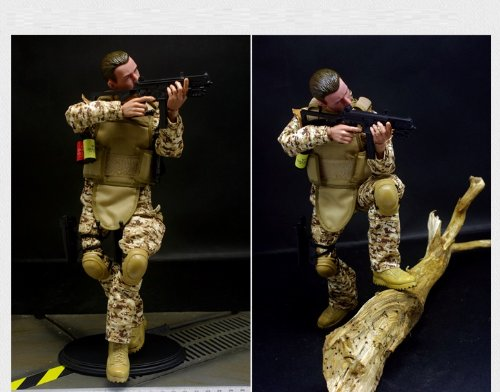 - Super System 12'' Special Forces Action Figure - Digital Desert Camouflage