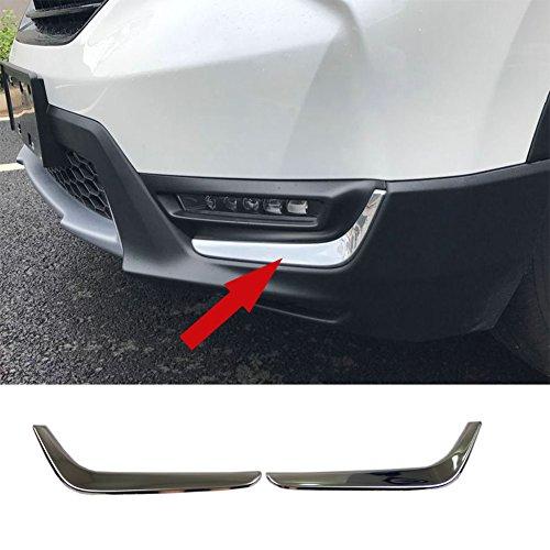 - Beautost Fit For Honda 2017 2018 CR-V CRV Chrome Front Fog Light Lamp Cover Trim Trims