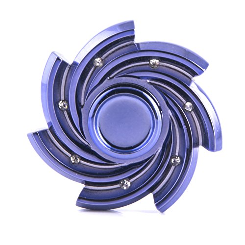 HXSS Fidget Spinner Metal Crystal Spinner Fidget Toy Helps Focusing Hand Spinner EDC Focus Toy for Kids & Adults Reducer Relieves ADHD Anxiety (EDC Spinner ,#Blue-Purple)