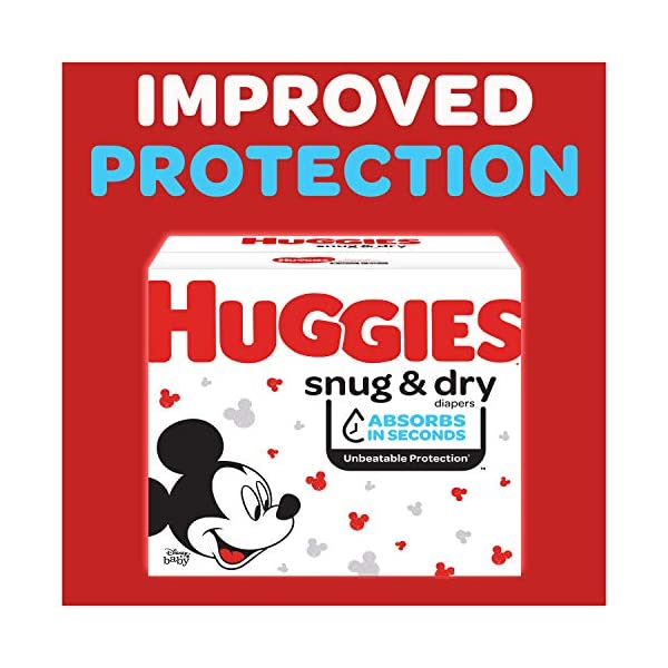 Huggies Snug & Dry Baby Diapers One Month Supply White Size 1 (256 Count) 2