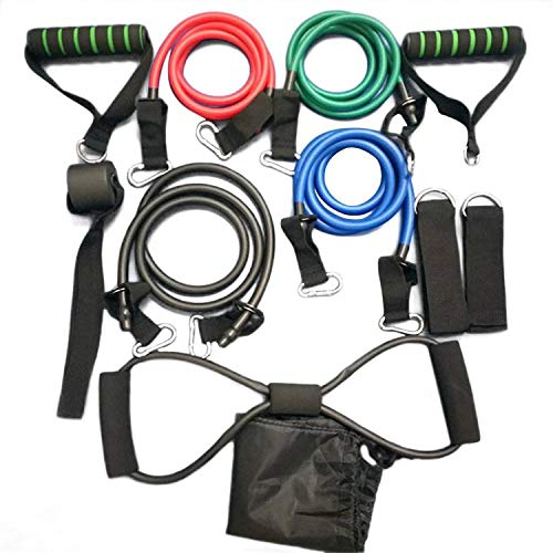 SHUTAO 11 Pcs/Set Multifunctional Rally Pull Rope Muscle Training Resistance Bands by SHUTAO