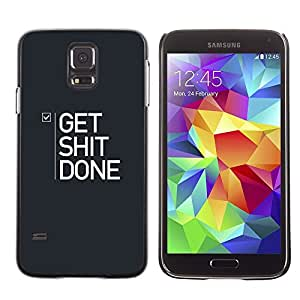FlareStar Colour Printing Get Things Done Checkmark To Do List cáscara Funda Case Caso de plástico para SAMSUNG Galaxy S5 V / i9600 / SM-G900F / SM-G900M / SM-G900A / SM-G900T / SM-G900W8