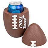 Football Can Cooler - Insulated Drink Holder Within a Toss-able football