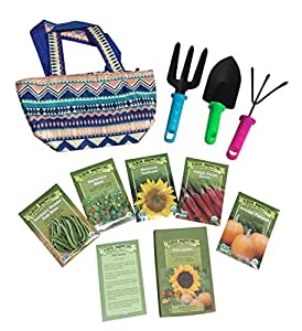Outdoor organic gardening tool set for kids for Gardening tools on amazon