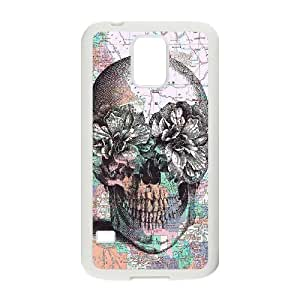 Skull DIY Cover Case for SamSung Galaxy S5 I9600,personalized phone case ygtg556085