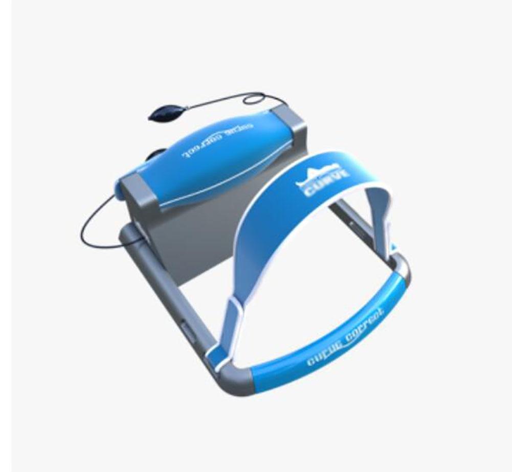 Cervical Traction Pillow Neck Brace - D&F Improve Spine Alignment Reduce Neck Pain Cervical Collar Adjustable, Blue