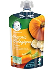GERBER Organic PURÉE Pumpkin Banana Carrot, Baby Food, Meal, 6+ Months, 128 ml, 12 Pack