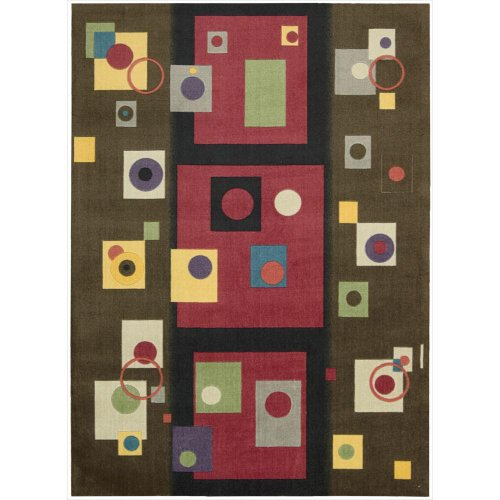 - Nourison Modern Art (MDR05) Chestnut Rectangle Area Rug, 4-Feet by 6-Feet  (4' x 6')