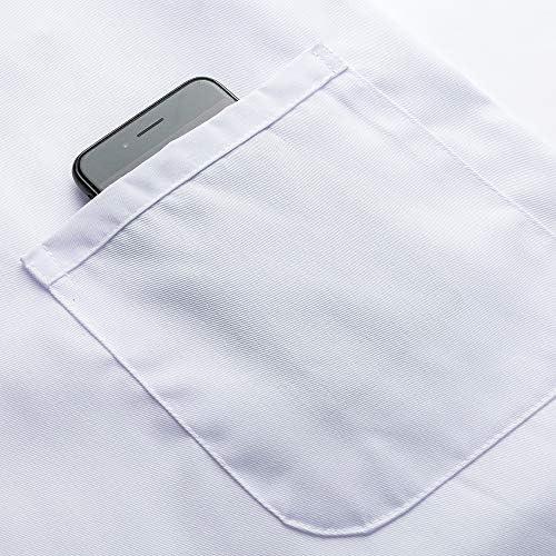 Icertag Camice Bianco da Laboratorio Medico Lavoro da Unisex Uomo Donna qualit/à Superiore x-Small