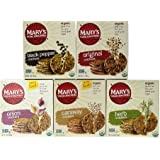 Mary's Gone Crackers Variety Pack with Onion, Herb, Black Pepper, Original, Caraway 6.5oz
