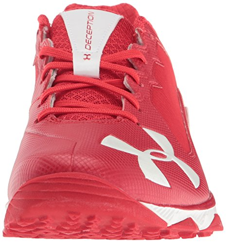 Under Armour Men's Deception Training Baseball Shoe, M US Red/White