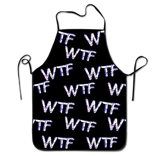 ginarew WTF Cooking Apron Kitchen Apron Bib Aprons Chief Apron Home Easy Care for Men -