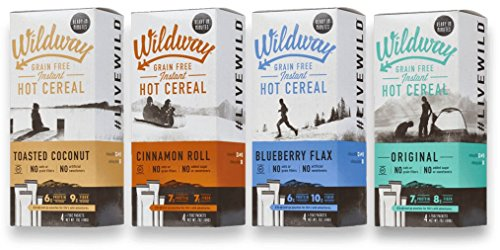 Wildway Grain-free Hot Cereal Variety Pack, 7 .oz ea, Pack of 4
