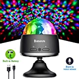 Disco Ball Party Lights, Rechargable Portable and Sound Activated Strobe Lamp for Cars and Home Room Dance Parties Birthday Karaoke Bar Decoration Dj Lighting