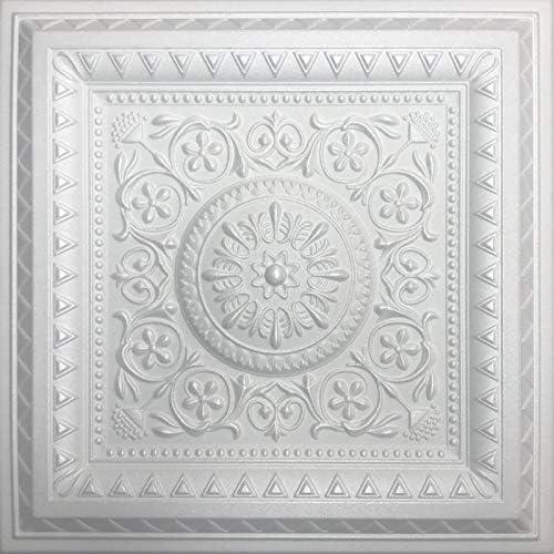 ホワイト発泡スチロール装飾天井タイルマジック(タイル40個入りケース)