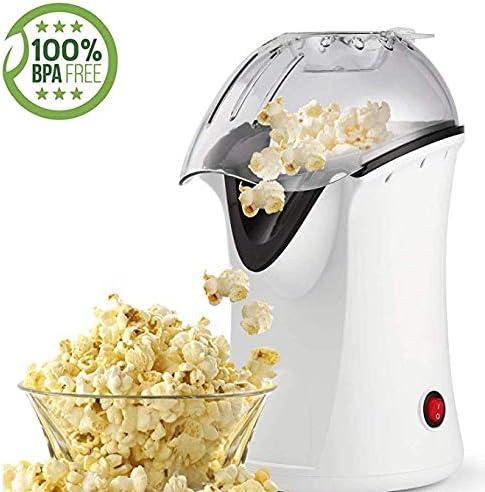 Popcorn Maker, Popcorn Machine, 1200W Hot Air Popcorn Popper Healthy Machine No Oil Needed black