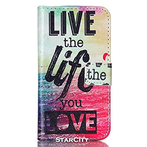 LG L90 Case, StarCity ® [Stand Feature] LG Optimus L90 Case Wallet, Flip Cover Folio PU Leather Wallet Case with Magnetic Closure for LG Optimus L90 (T-Mobile) / D415 (Live The (Lg D415 Phone Case For Girls)