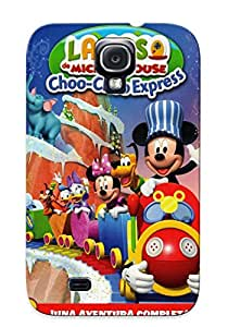 Mediospsych Galaxy S4 Hybrid Tpu Case Cover Silicon Bumper Mickey Mouse Clubhouse Mickey Choo Choo Express