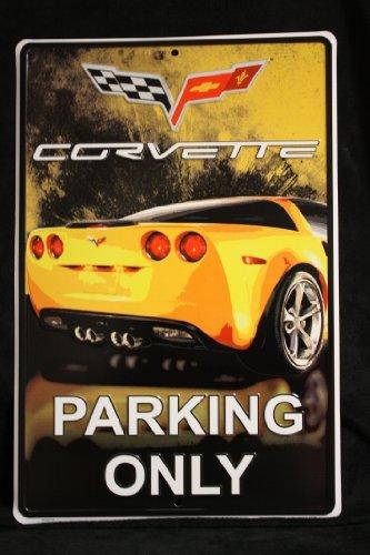 HangTime Corvette Parking Only Four Color Sign