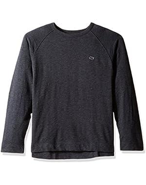 Men's Slubby Lightweight Fleece Crewneck Sweater-SH1926, Urban Grey Chine, 4