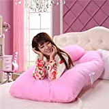 MD Group Body Pillow Maternity Cushion Pink Comfortable Pregnancy U Tyle Sleepers Removable Side