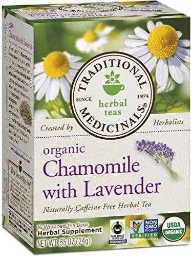 Medicinals traditionnelle bio, camomille avec de la lavande, les cases 16-Count (Pack de 6)