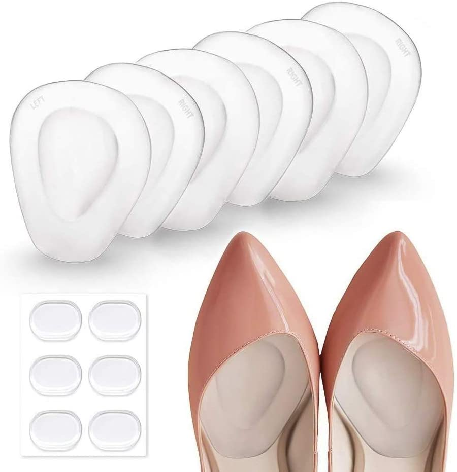 10 Pairs Sandals Ball of Foot GEL CUSHION High Heeled Shoe Feet Pad Insoles
