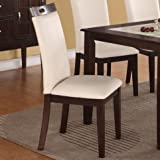 Poundex Bobkona Dining Chair in Cream Finish – Set of 2 Review