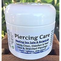 PIERCING CARE ! Healing Sea Salts & Botanical AFTERCARE :) Safely Clean, Disinfect & Heal New & Stretched Piercings. Gentle ~ Effective ~ Natural. NON-iodized. Vitamin Rich. Dead Sea Salt, Mediterranean Sea Salt, Tea Tree Oil, Aloe Vera, Vitamin E.