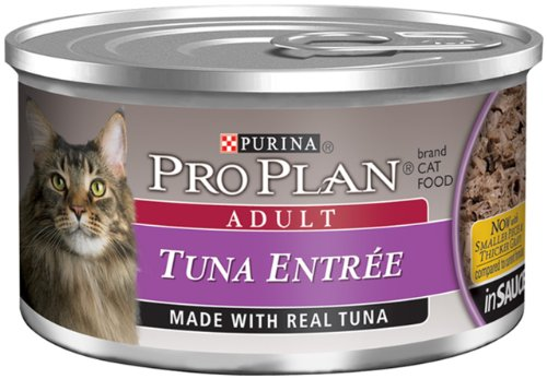 Pro Plan Canned Cat Food, Adult Tuna Entree, 3-Ounce Cans (Pack of 24), My Pet Supplies