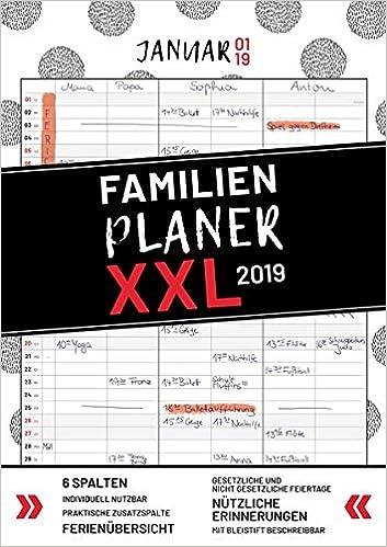 xxl familienplaner 2019 zum aufhangen in din a3 hochwertiger und ubersichtlicher familienkalender 2019 mit 3 bis 6 spalten plus einer zusatzspalte