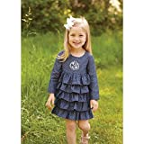 mud pie ruffles - MUD PIE CHAMBRAY RUFFLE DRESS 4TBlue