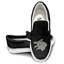 SUEPER Men's Wolf Fashion Basic Canvas Sneaker Shoes Sports