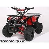"Toronto 125cc RG 7"" Automatik + RG   MIDI QUAD (Schwarz)"