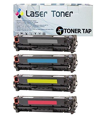 Toner Tap Compatible For HP 305A CE410A CE411A CE412A CE413A PRO 300, PRO 400, BCMY Full Set
