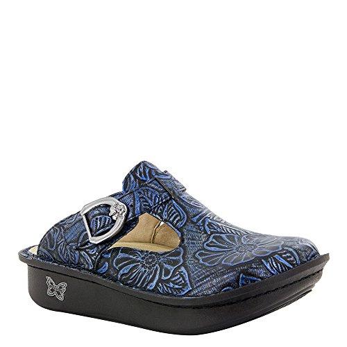 Clogs Cork Leather (Alegria Women's Classic Clog, Blue Romance, 38 M EU)