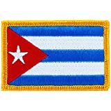 Patch écusson brodé drapeau cuba cubain thermocollant backpack