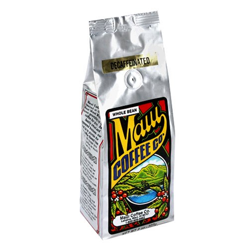 Maui Coffee Company Maui Blend Decaf (Whole Bean), 7-Ounce Bag (Pack of 3)